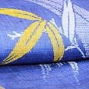 ブルー地笹柄の越後上布 質感・風合
