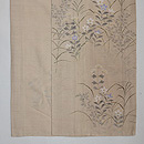秋野の花々変わり織紗紬 上前