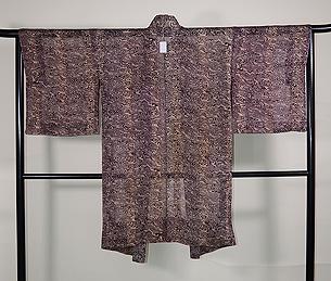 流水文様錦紗楊柳羽織