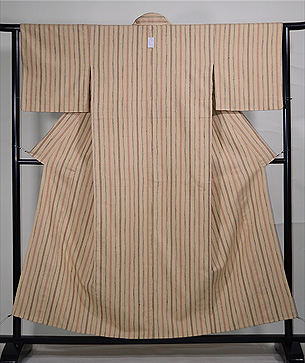 伊兵衛織縦縞の単衣