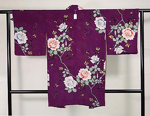 紫地バラの羽織