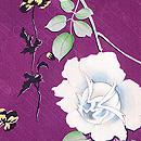 紫地バラの羽織 質感・風合