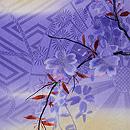 紫暈しに枝垂れ桜の付下 質感・風合
