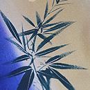 縞暈しに笹梅の一方付け小紋 質感・風合