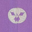 紫暈し花車に四季の花文様訪問着 背紋