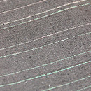 新田工房作 黒地横微塵縞の米沢紬 質感・風合