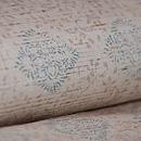 ぜんまい織に花菱の型染め小千谷紬 質感・風合