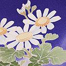 茄子紺地白菊の色留袖 質感・風合