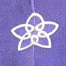 茄子紺地白菊の色留袖 背紋