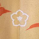 山栗と竹垣に菊の訪問着 背紋