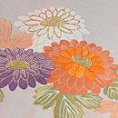 雲取りに四季の花文様訪問着 質感・風合