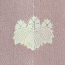源氏香に葵、菊文様色留袖 背紋