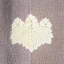 葵文様色留袖 背紋