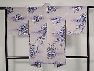 秋草の単衣羽織