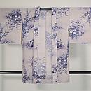 秋草の単衣羽織 正面