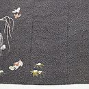 雪持ち柳に仔犬と雀の付下 質感・風合