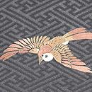 紗綾形地すずめの刺繍羽織 質感・風合