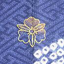 松菱文様疋田絞りに笹の刺繍訪問着 背紋