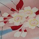 霞に枝桜文様小紋 質感・風合