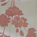 萌黄色暈しに枝垂れ桜の小紋 質感・風合