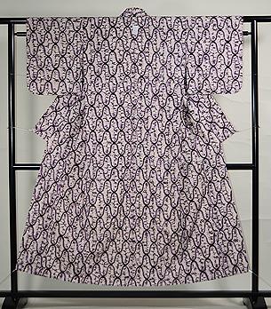 南部紫根染絞り木綿単衣