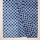 藍染め絞り網目文様木綿単衣 上前