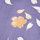 枝垂れ桜の付下 質感・風合