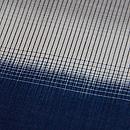 藍に白横段縦絣紬 質感・風合