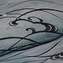 流水に波文様小紋単衣 質感・風合