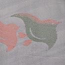 流水に千鳥の小紋単衣 質感・風合