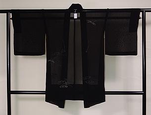 流水にトンボの単衣羽織