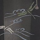 流水にトンボの単衣羽織 質感・風合