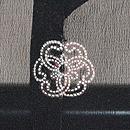 流水にトンボの単衣羽織 背紋