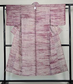 三浦絞り紫根染め単衣