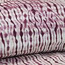 三浦絞り紫根染め単衣 質感・風合