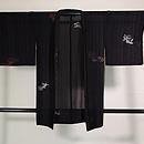 黒地金魚の図紗単衣羽織 正面