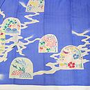 薄群青色カモメに作り土文様絽の訪問着 質感・風合