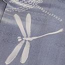霞に群れトンボの単衣小紋 質感・風合