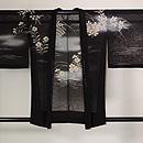 秋草に虫かご文様紋紗の羽織 正面