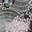 秋草に虫かご文様紋紗の羽織 質感・風合