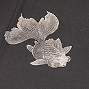 朱と銀の琉金単衣小紋 質感・風合