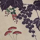 秋草の小千谷縮小紋 質感・風合