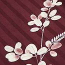 あずき色萩の小紋 質感・風合