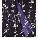 濃紫色萩の絽小紋 上前