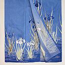薄青絽地菖蒲に観世水色留袖 上前