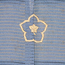 薄青絽地菖蒲に観世水色留袖 背紋