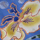 薄青錦紗地菖蒲に水玉の色留袖 質感・風合