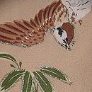 笹に雀文様羽織 質感・風合