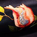 枝ざくろ刺繍名古屋帯 質感・風合