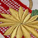 筏に菊と紅葉刺繍名古屋帯 質感・風合